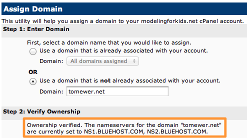 Assign Domain