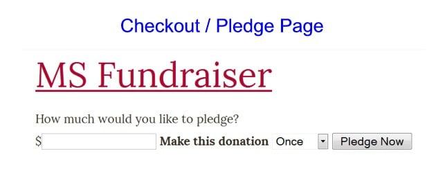 Checkout/Pledge Page
