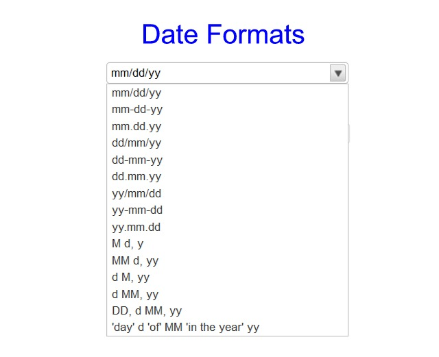 Date Format
