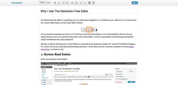 Distraction Free Editor