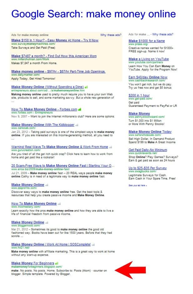 make money online blogs list