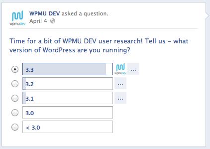 WPMU DEV Facebook Poll
