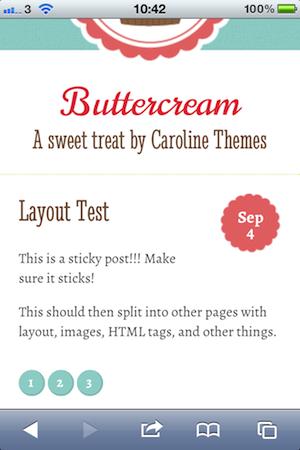 Buttercream Responsive Theme