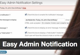 Easy Admin Notification