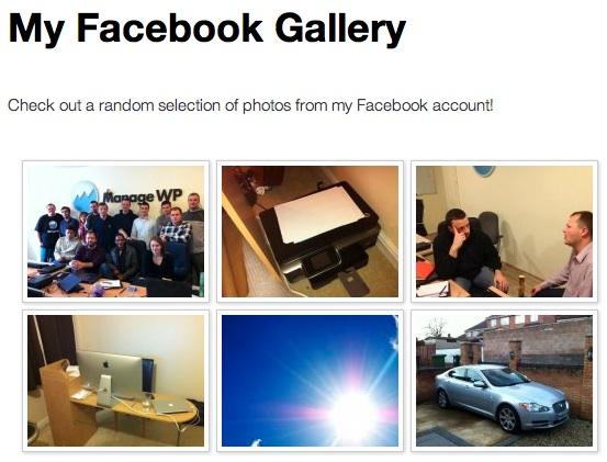 Facebook Page Photo Gallery