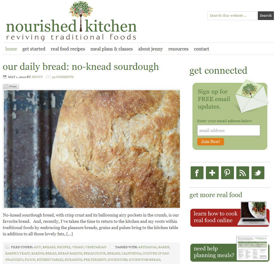 Nourished Kitchen: Top 25 Beautiful Food Blogs Using WordPress