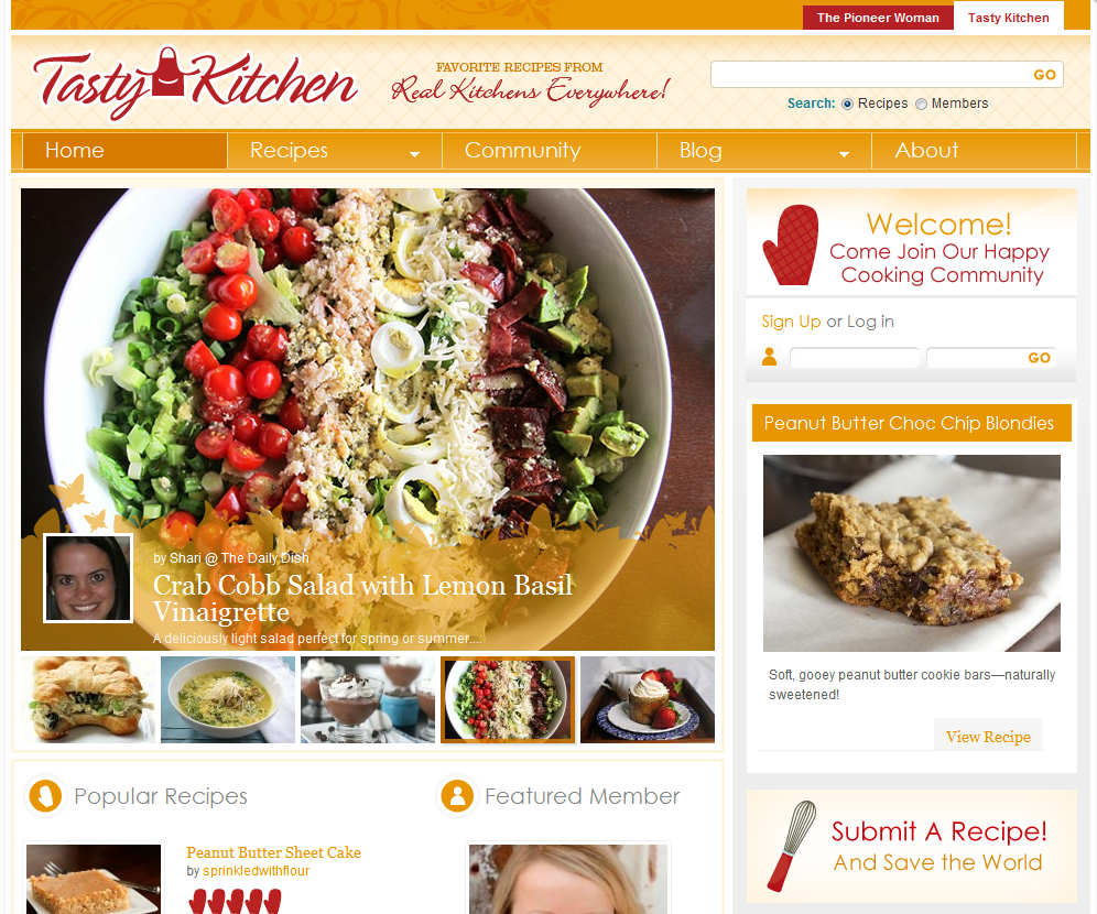 Tasty Kitchen Blog: Top 25 Beautiful Food Blogs Using WordPress