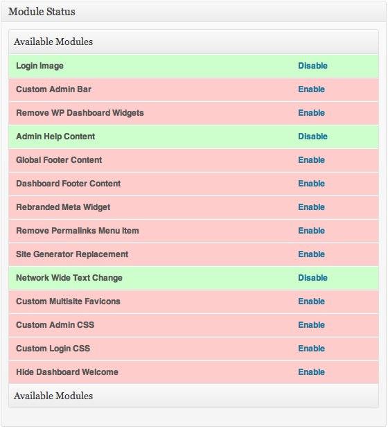 Ultimate Branding Plugin Network Admin