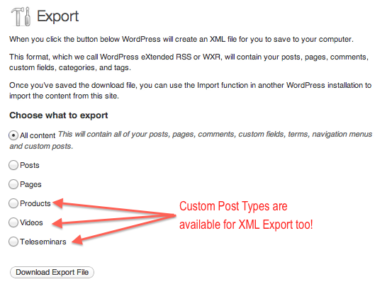 Importing Custom Post Types to WordPress