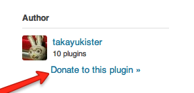 WordPress.org plugin donate link