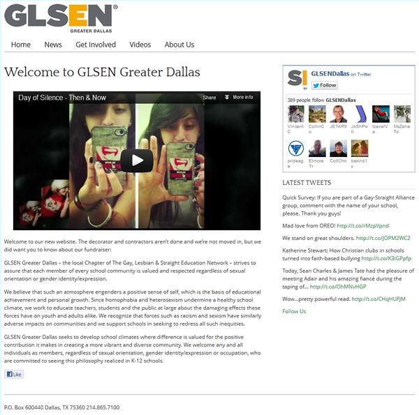 GLSEN-no-news-home-page