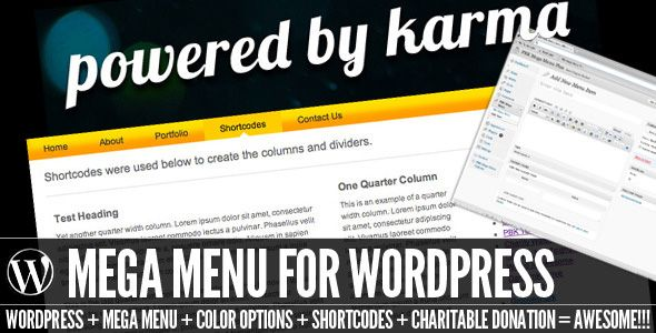 WordPress Menu Plugins - PBK Mega Menu premium jQuery plugin