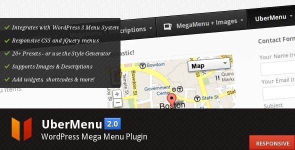 WordPress Menu Plugins - UberMenu premium jQuery plugin