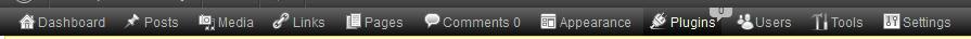 WordPress Horizontal Menu