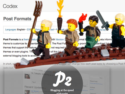 Post Formats angry mob of lego people descends upon the post formats Codex page