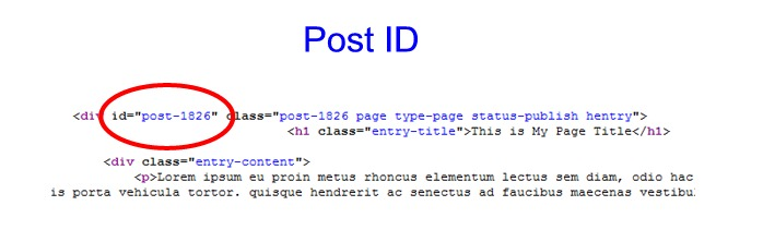 Finding Post ID