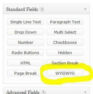 Wysiwyg Wordpress Plugin