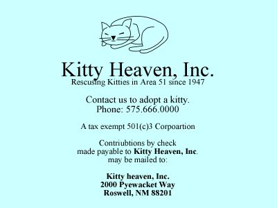 Kitty Heaven Business Card