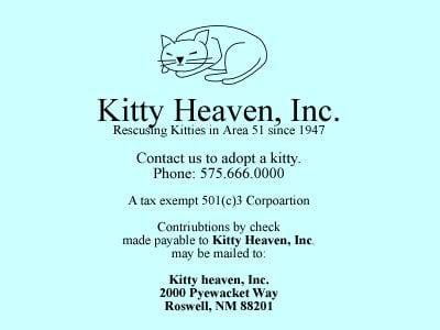 Kitty Heaven Business Card