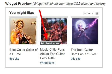 Outbrain's Related Posts Widget