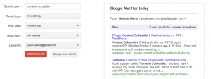 Better Support-Google Alerts Setup and Preview Window