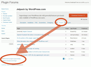 Better Support-WordPress Plugin Page Support Tab