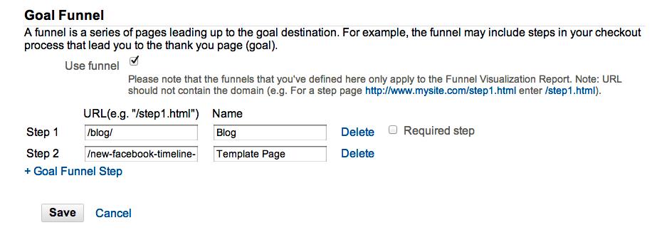 Funnel Creation in Google Analytics