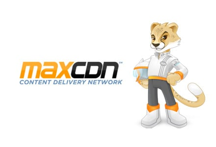 MaxCDN logo and Max