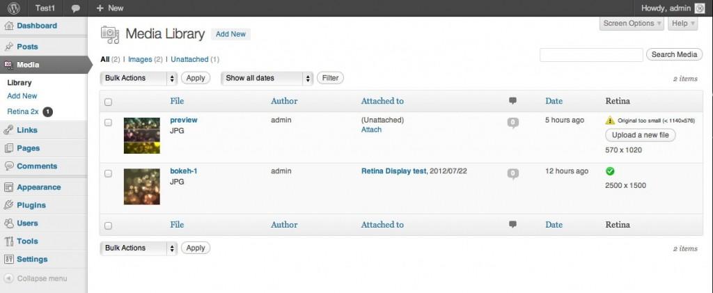 Retina images in WordPress wp-admin