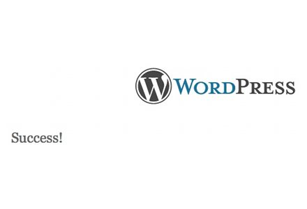 WordPres-5-Minute-Intall-Success