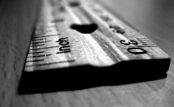 a ruler to measure with