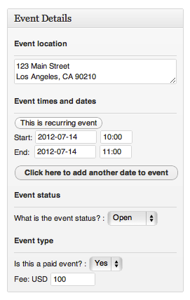 Events + Advanced Scheduler for recurring events and Selling tickets