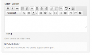 Animate WordPress-screenshot of slider entry field on edit screen