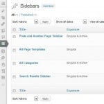 WordPress Sidebar - Screenshot of Content Aware Sidebars plugin