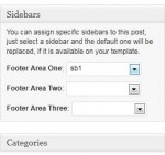 WordPress Sidebar - Screenshot of Custom Sidebars plugin