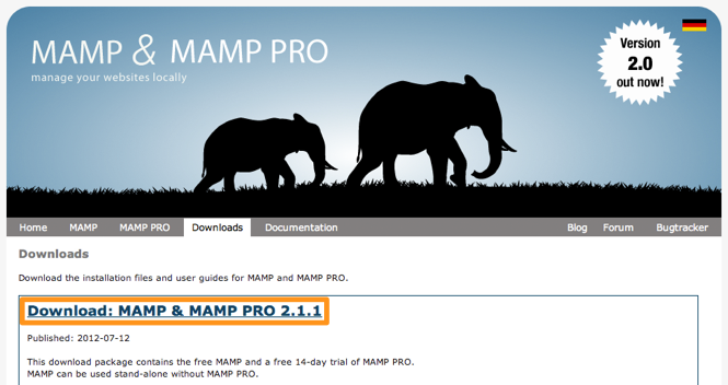 Download MAMP for Mac