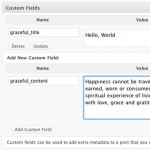 WordPress Sidebar - Screenshot of Graceful Sidebar custom fields