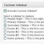 WordPress Sidebar - Screenshot of Per Page Sidebars plugin