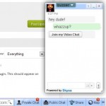 WordPress Chat - Screenshot of the Skysa Chat app