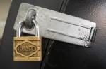 User Logging Security Actions-Padlock on door