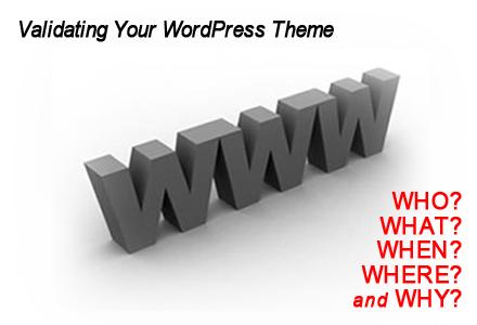 Validating Your WordPress Theme
