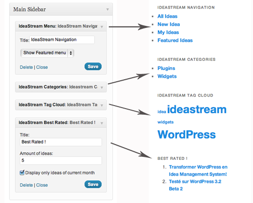 WordPress Ideas Management