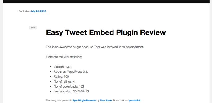 WP Plugin Info