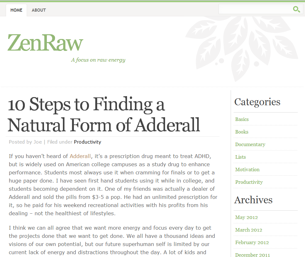 Zen Raw blog