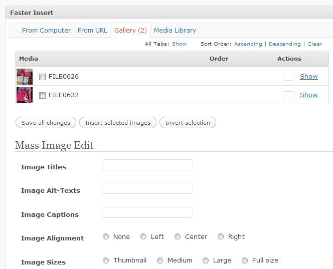 Faster Insert Plugin Productivity for WordPress