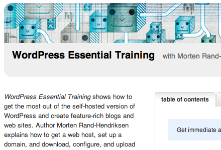 Lynda.com WordPress Essential Training course