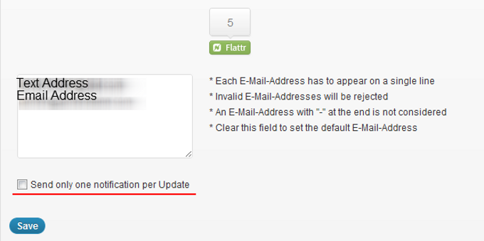 Mail On Update Multiple Addresses