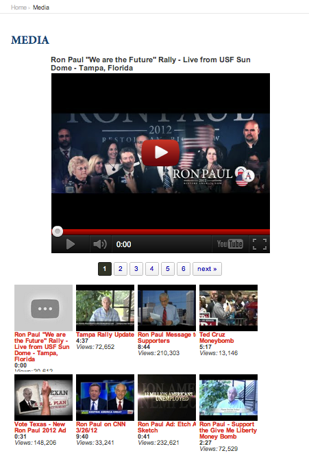 Ron Paul Political Candidate Youtube Plugin Tubepress