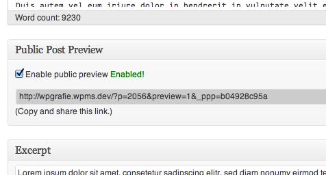 Public Post Preview Productivity Plugin for WordPress