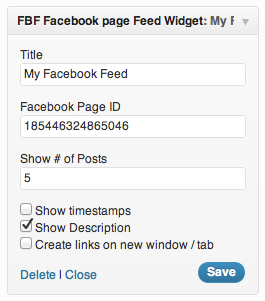 Facebook Page Feed Widget